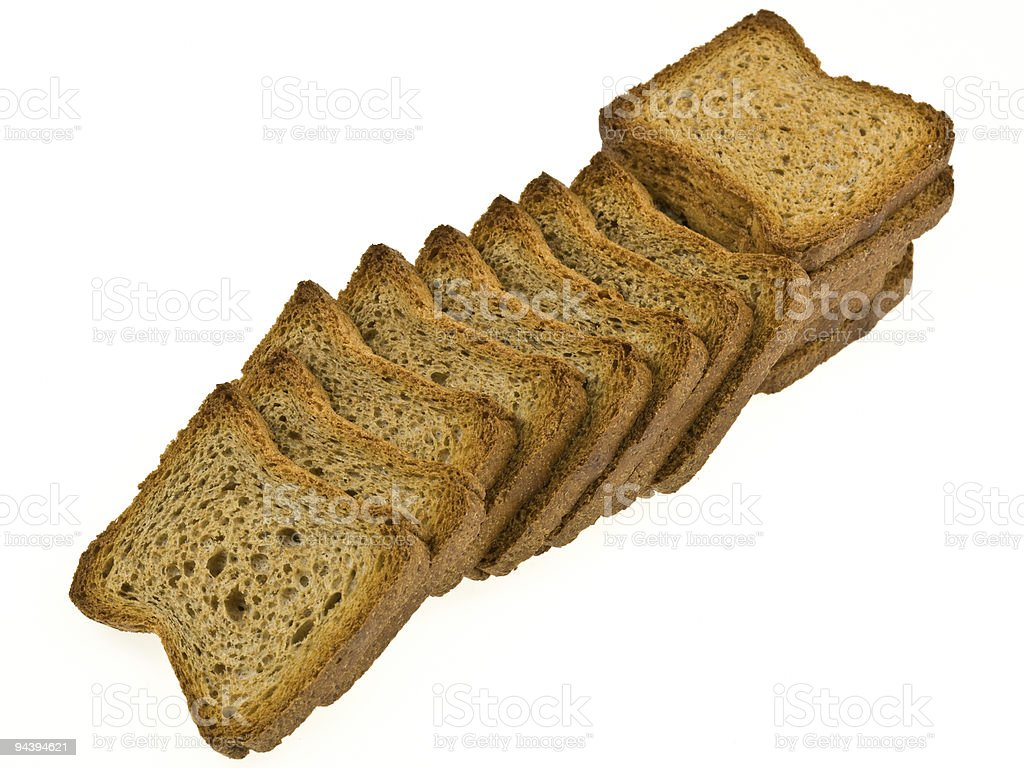 whole wheat toasts royalty-free stock photo