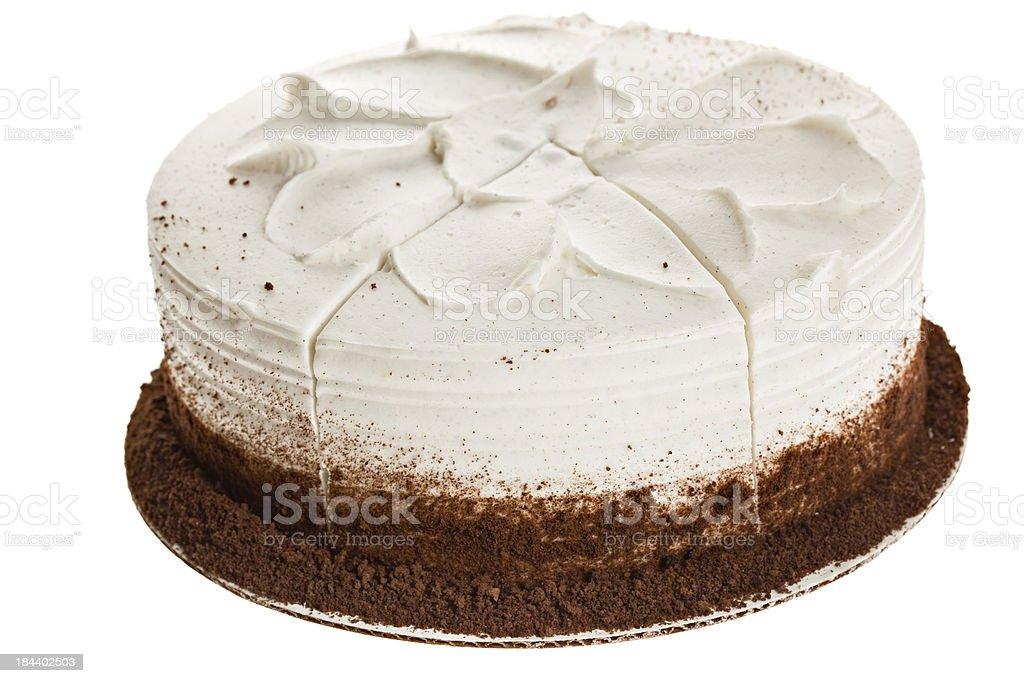 Whole White Cake stock photo