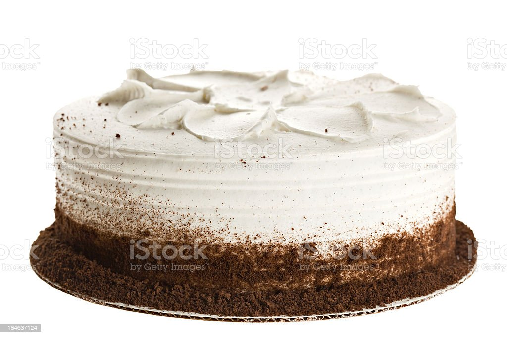 Whole White Cake royalty-free stock photo