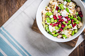 Wholefood salad, clean eating and diet