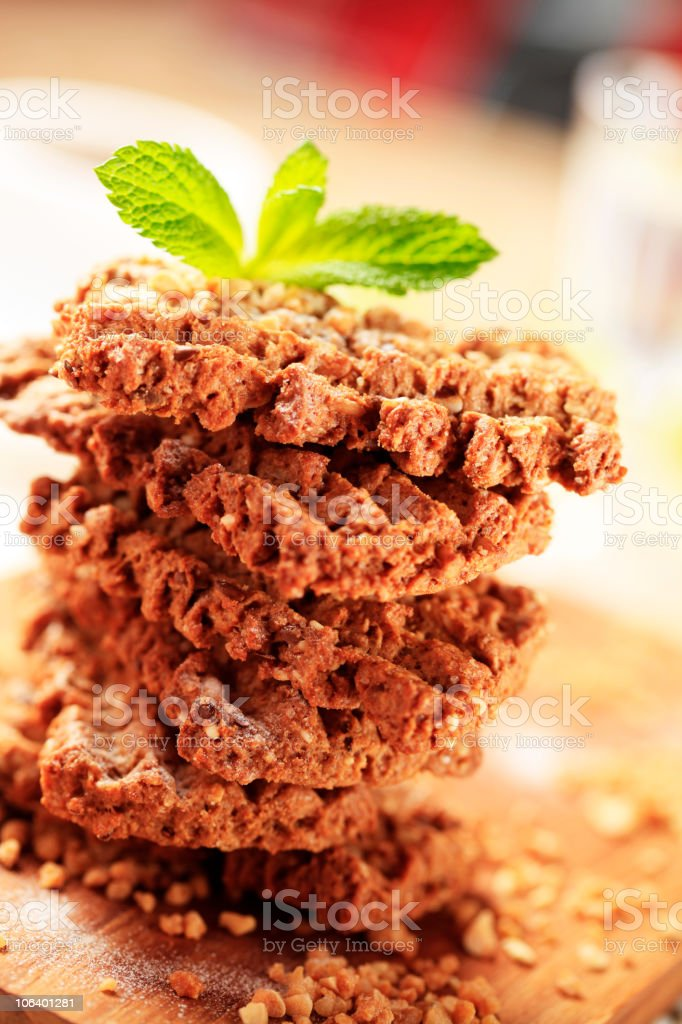 Wholegrain nutty cookies royalty-free stock photo