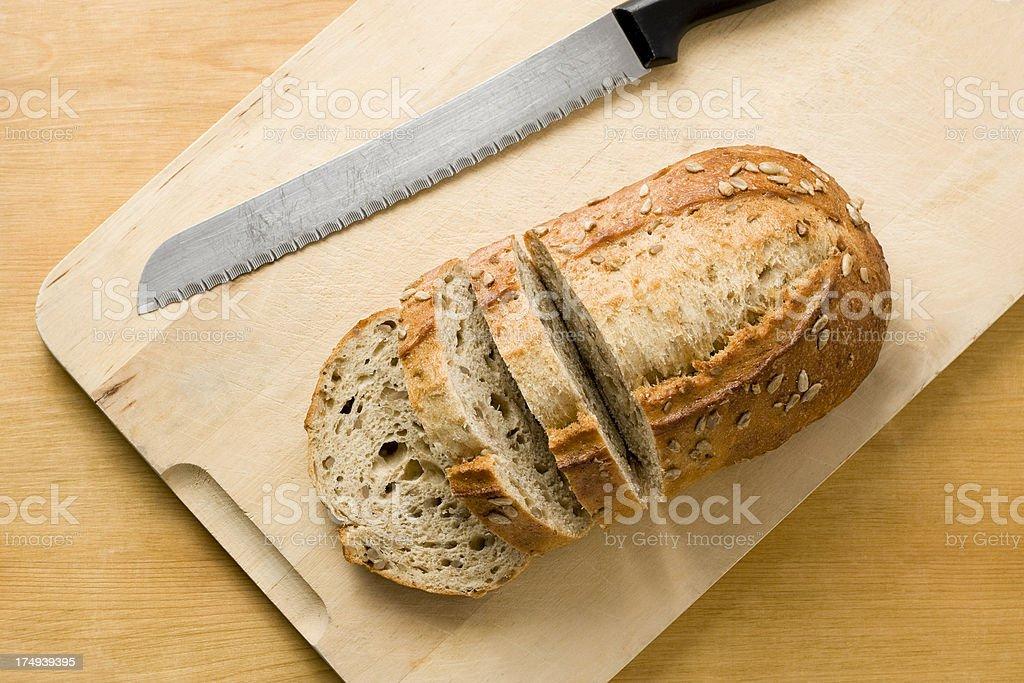 Wholegrain seeded bread stock photo