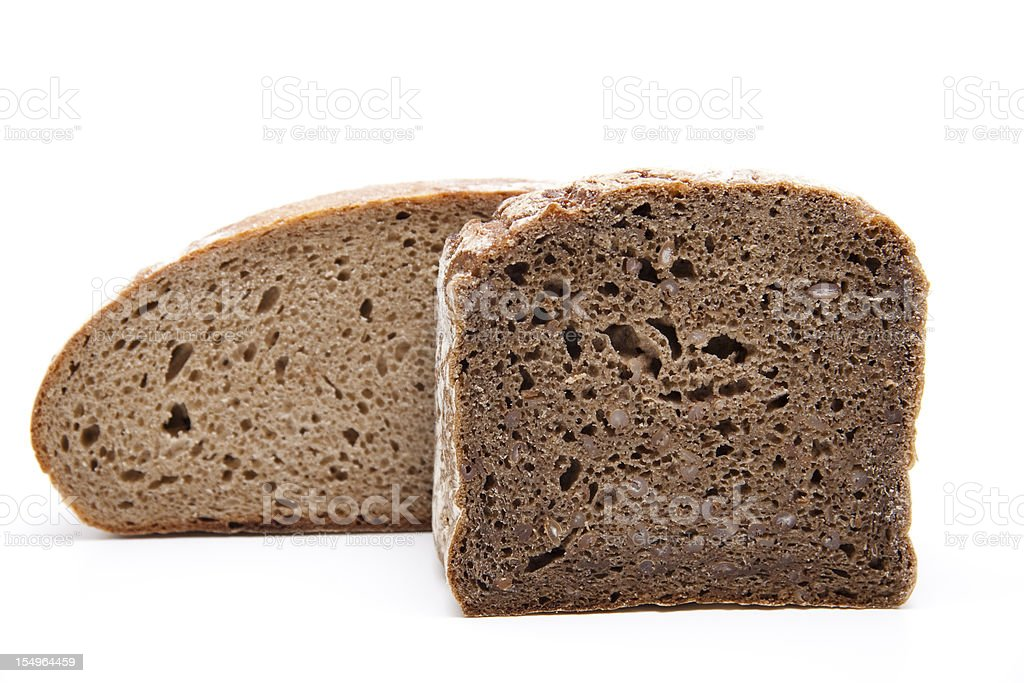 Wholemeal and rye bread stock photo