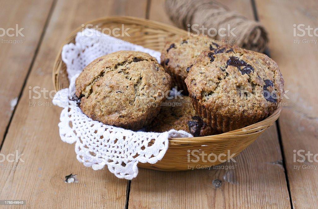 Wholemeal banana muffins royalty-free stock photo