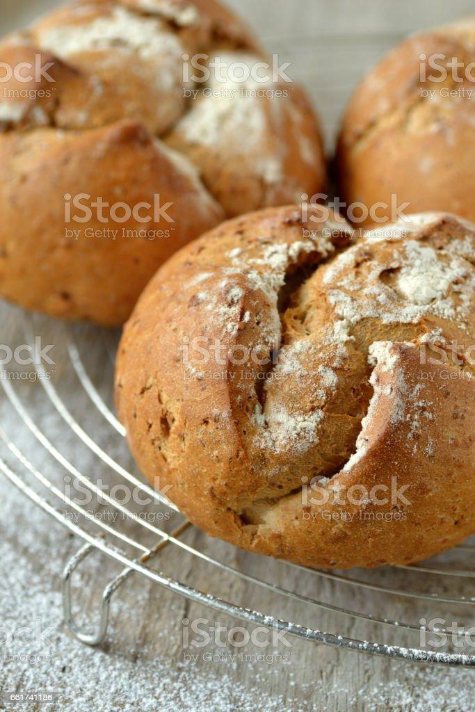 Wholemeal bread stock photo