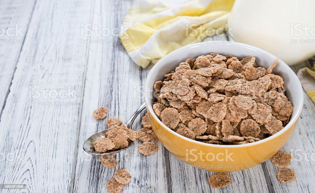 Wholemeal Cornflakes stock photo