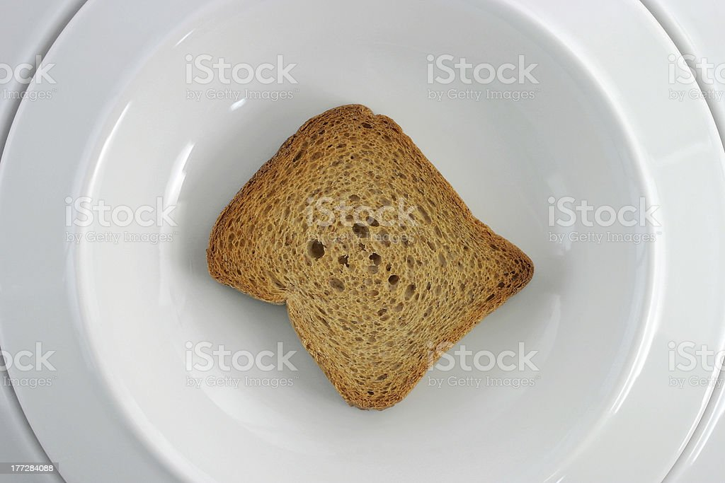 Wholemeal flour rusks diet stock photo
