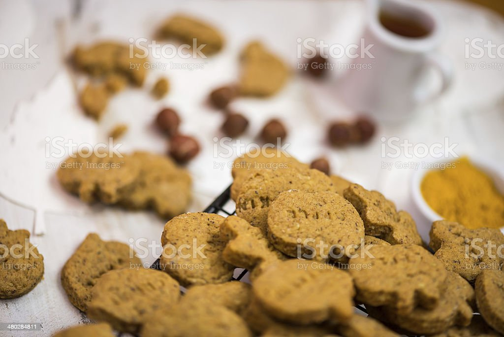 Wholemeal Homemade Crackers royalty-free stock photo