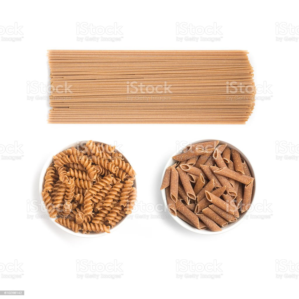 Wholemeal Pasta stock photo