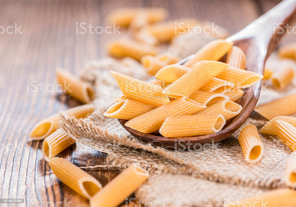 Wholemeal Penne stock photo
