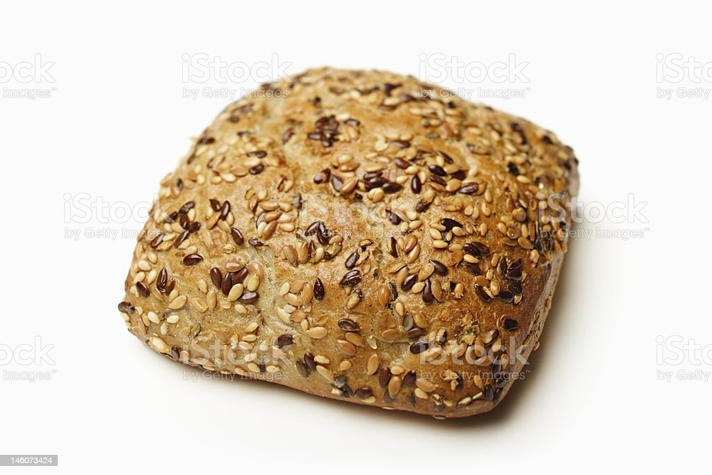 Wholemeal roll royalty-free stock photo