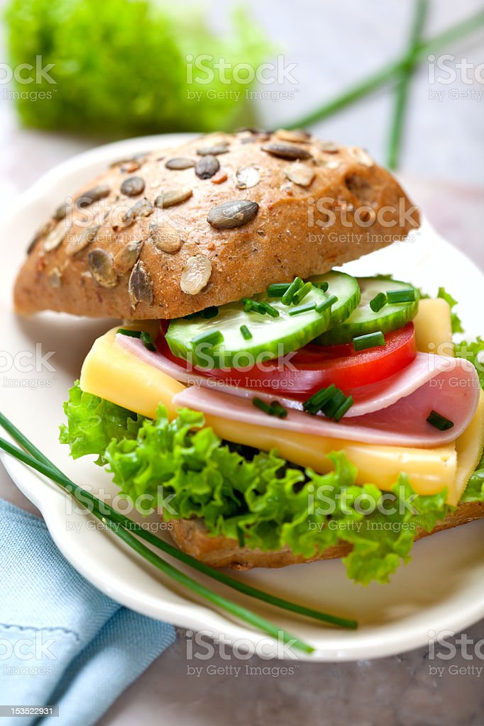 Wholemeal sandwich royalty-free stock photo