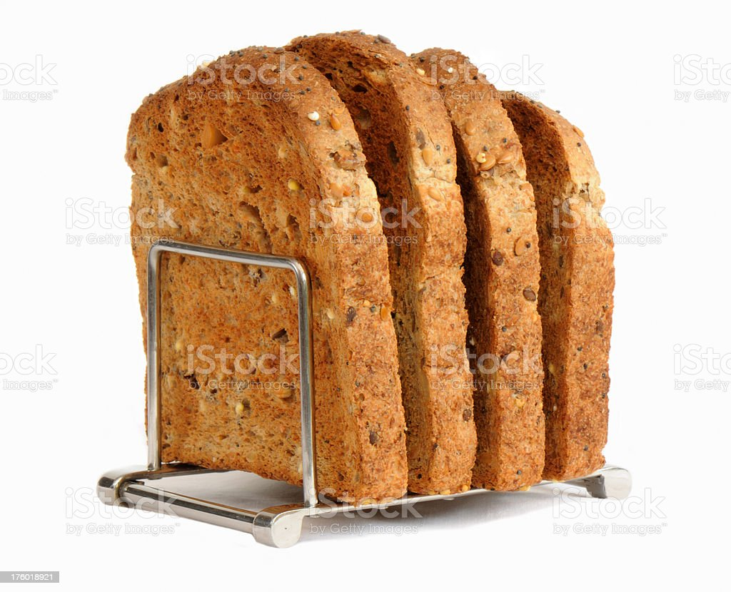 Wholemeal Toast on Rack royalty-free stock photo