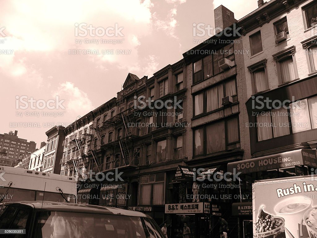 Wholesale District on 28th Street NYC stock photo