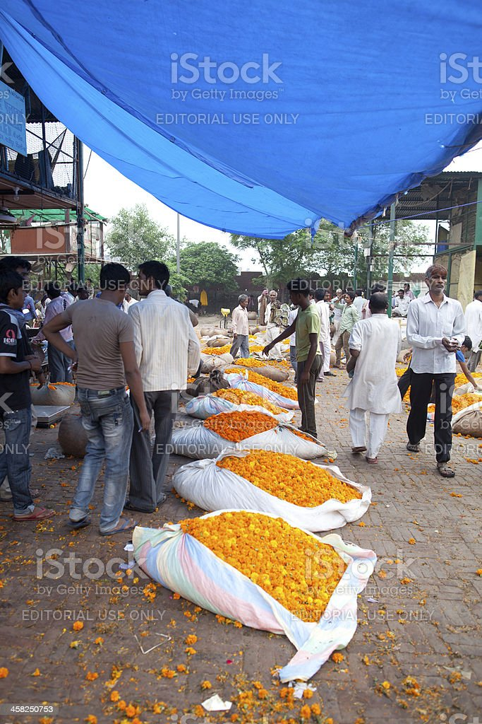 Wholesale flower market, New Delhi royalty-free stock photo