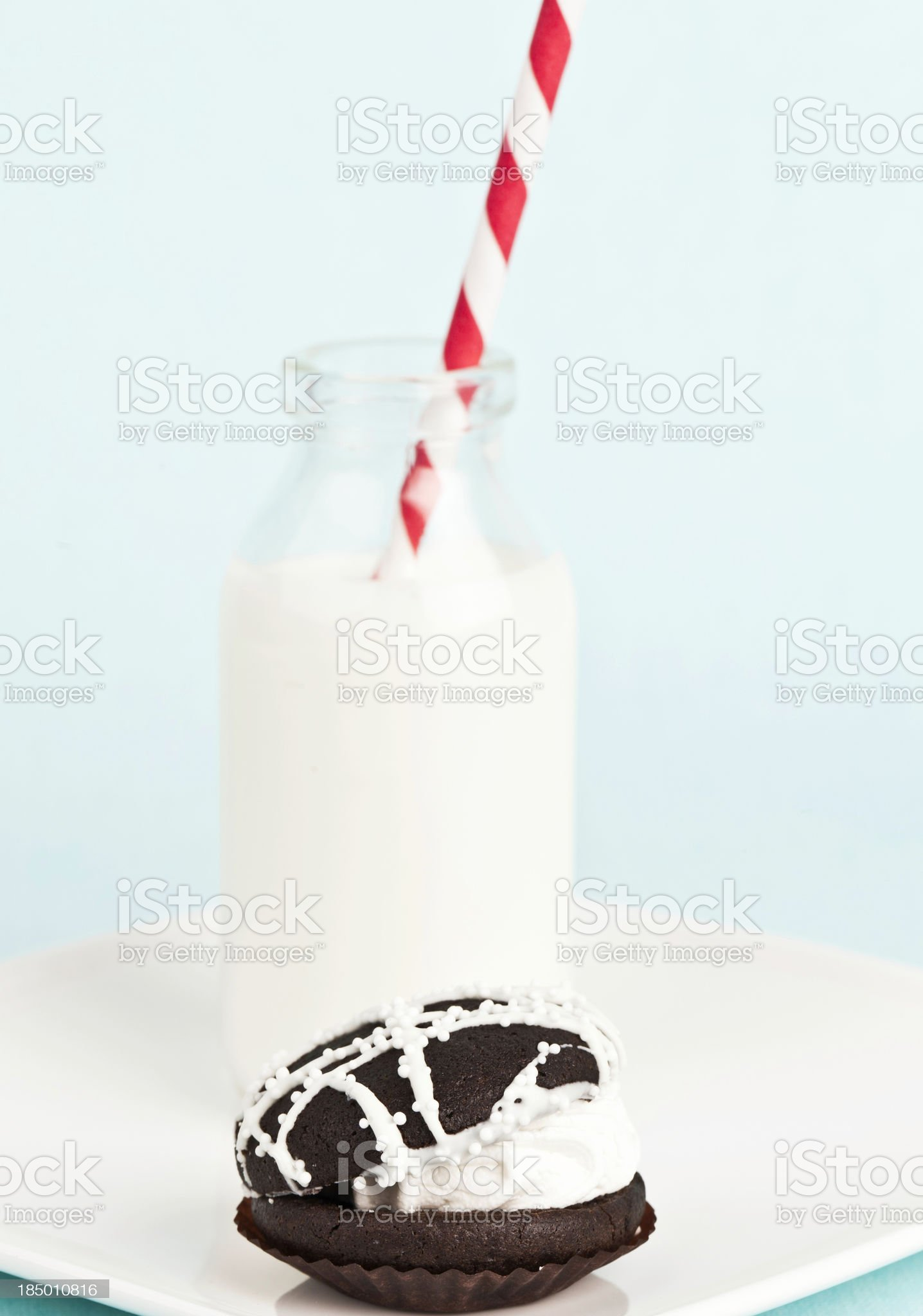 Whoopie Pie and Milk royalty-free stock photo