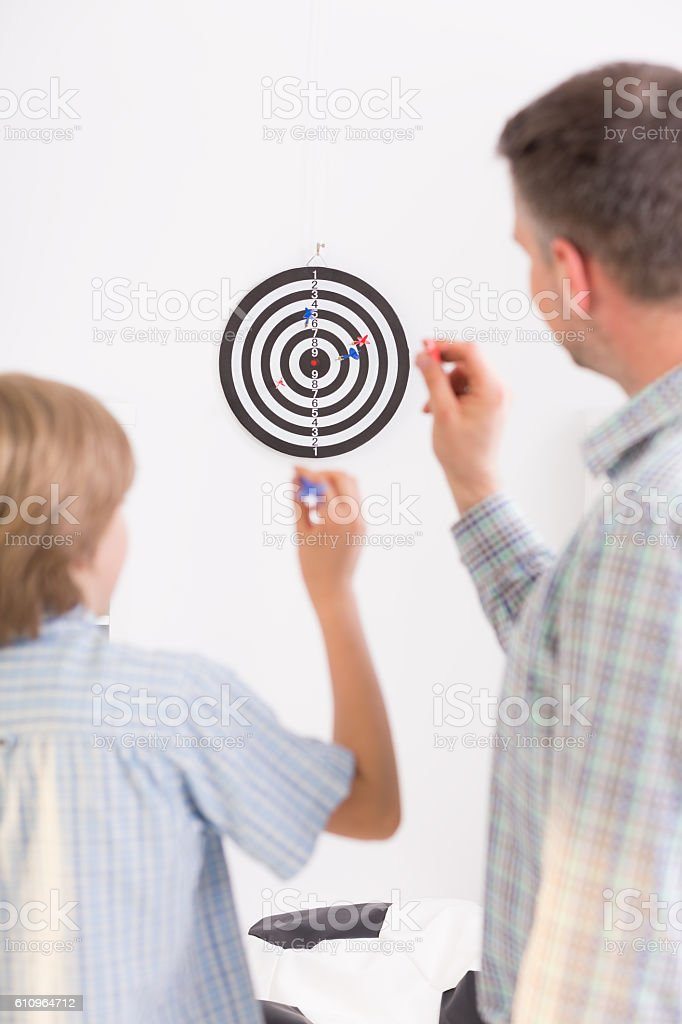 Who's aiming better? stock photo