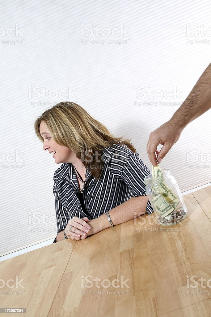Who's got their hand in your money? royalty-free stock photo