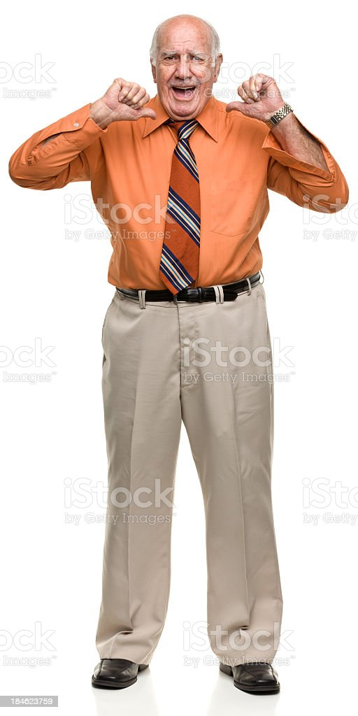 Who's Got Two Thumbs royalty-free stock photo