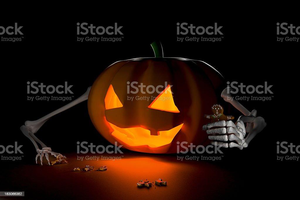 Who's next? Funny Halloween Illustration (XXXL) stock photo