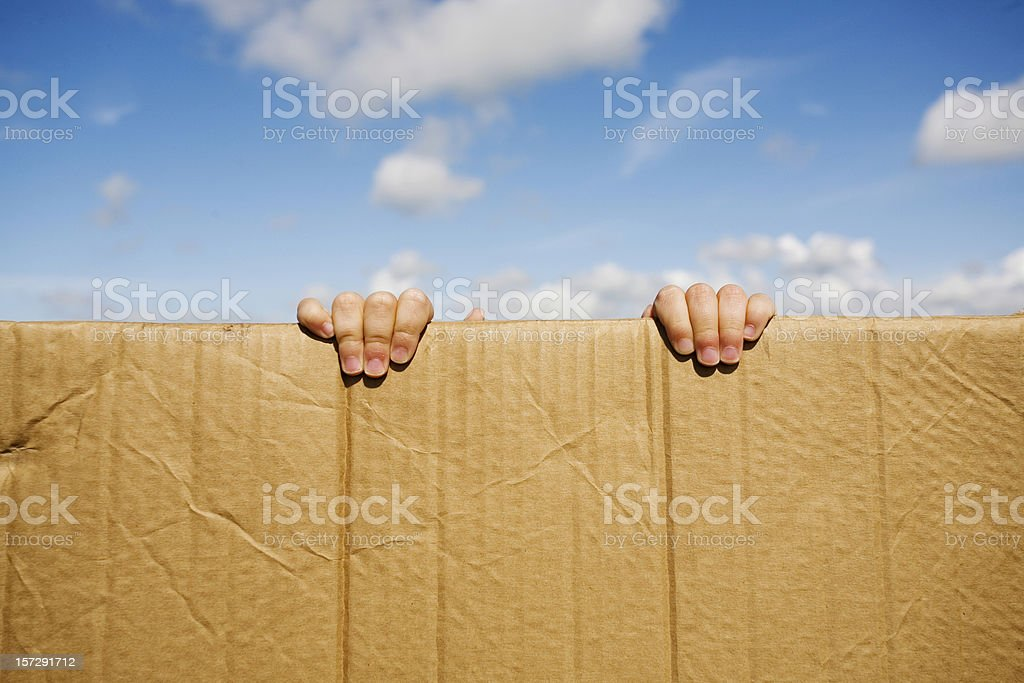 Who's there? royalty-free stock photo