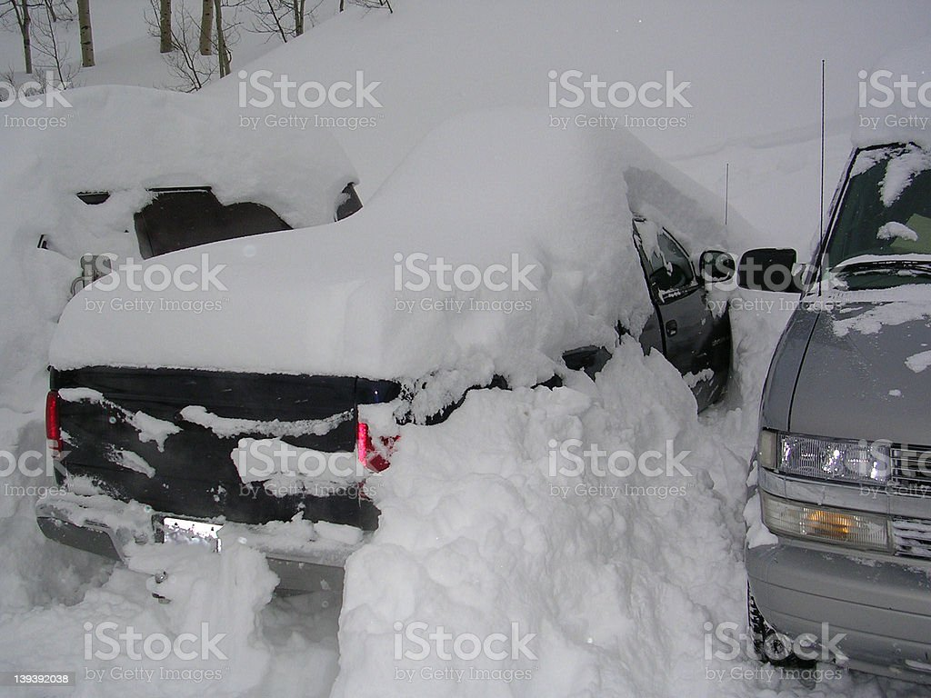 Who's turn is it to dig it out? royalty-free stock photo