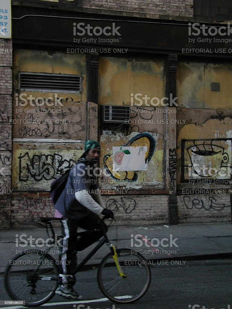 Why are you taking a picture of a wall? Soho NYC stock photo
