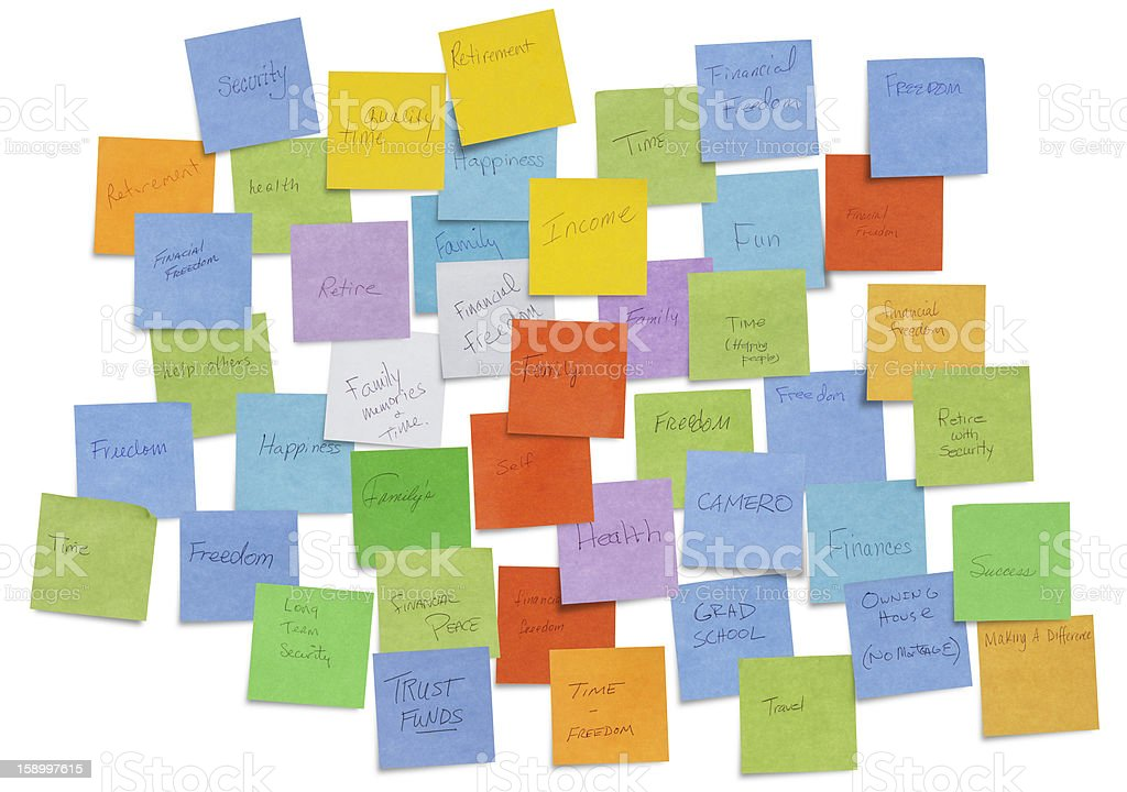 Why Do You Work Sticky Notes. stock photo