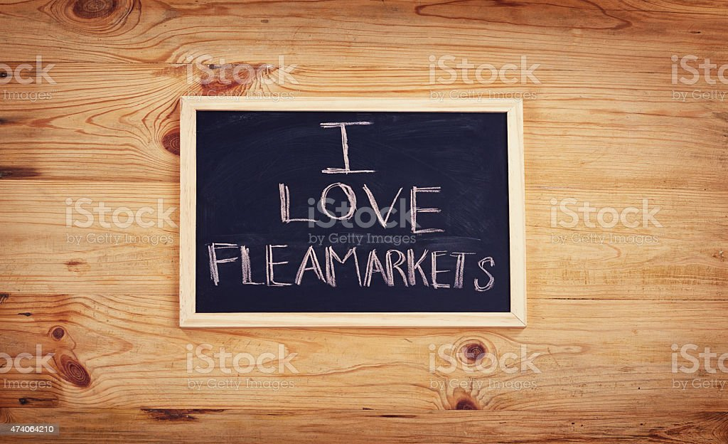 Why don't we go visit a flea market this weekend? stock photo