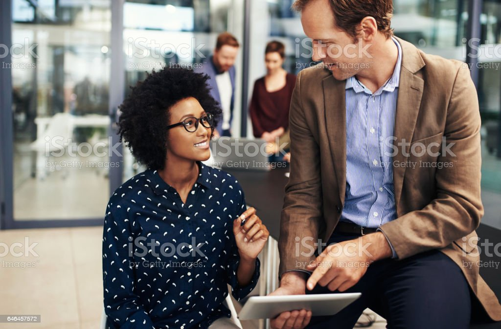 Why leave the meeting room when there's wireless technology? royalty-free stock photo