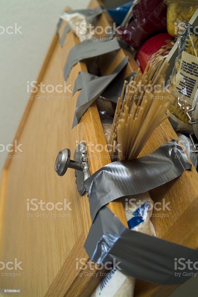 Why Wont My Door Stay Shut? royalty-free stock photo