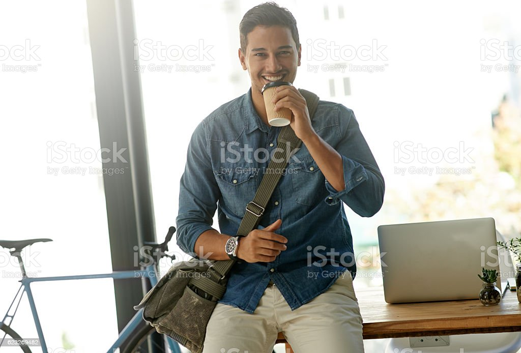 Why work hard when you can work smart? stock photo