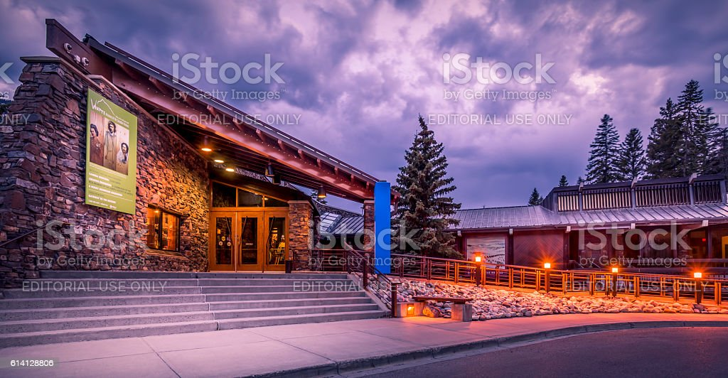Whyte Museum of the Candian Rockies stock photo