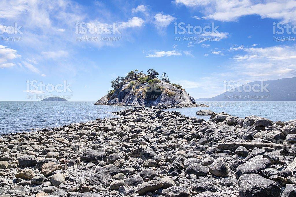 Whytecliff Island Near Horseshoe Bay, West Vancouver royalty-free stock photo