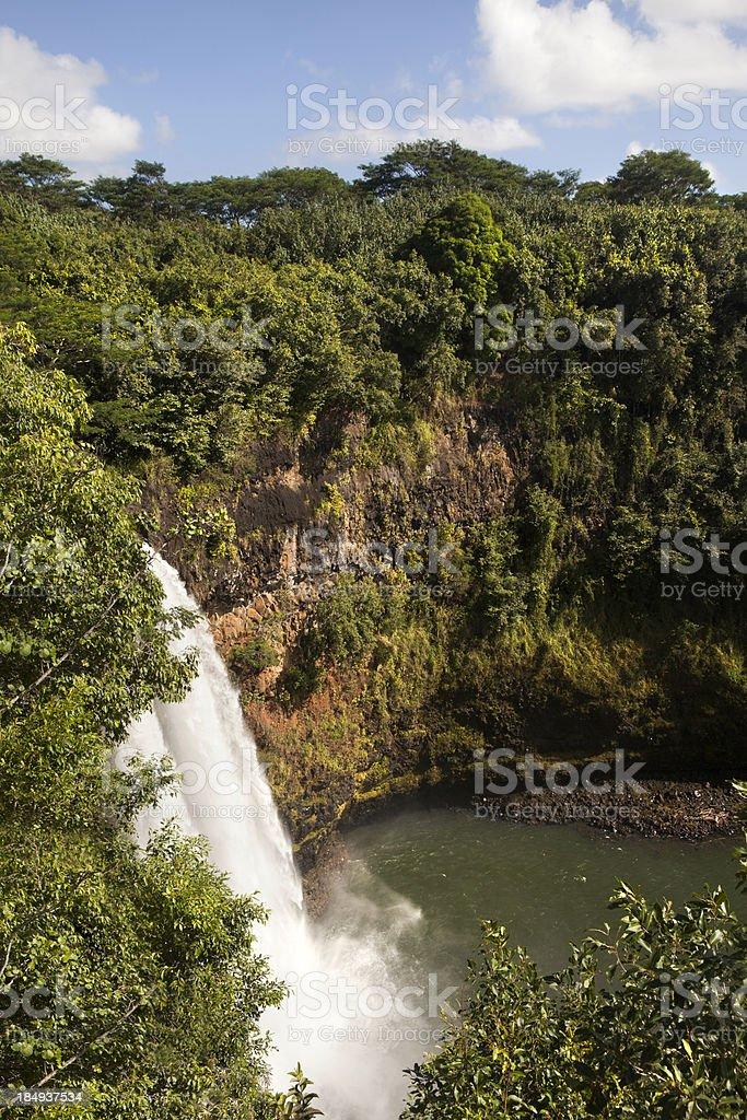 Wialua Falls Kauai Hawaii royalty-free stock photo