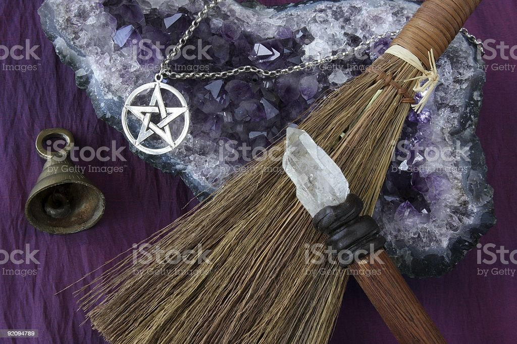 Wiccan Objects stock photo