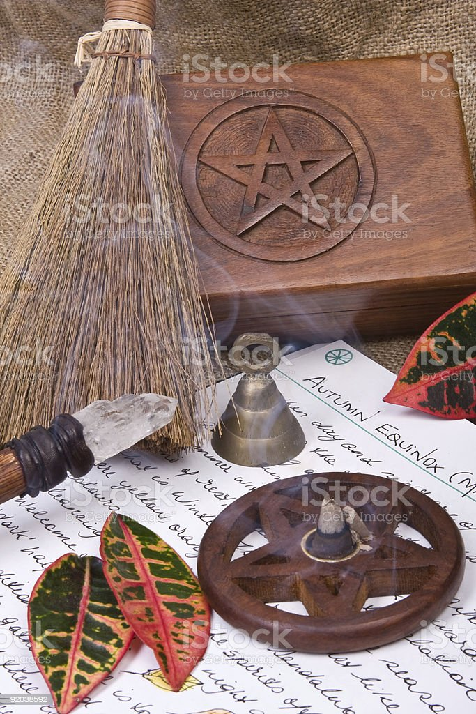 Wiccan Ritual - Mabon royalty-free stock photo
