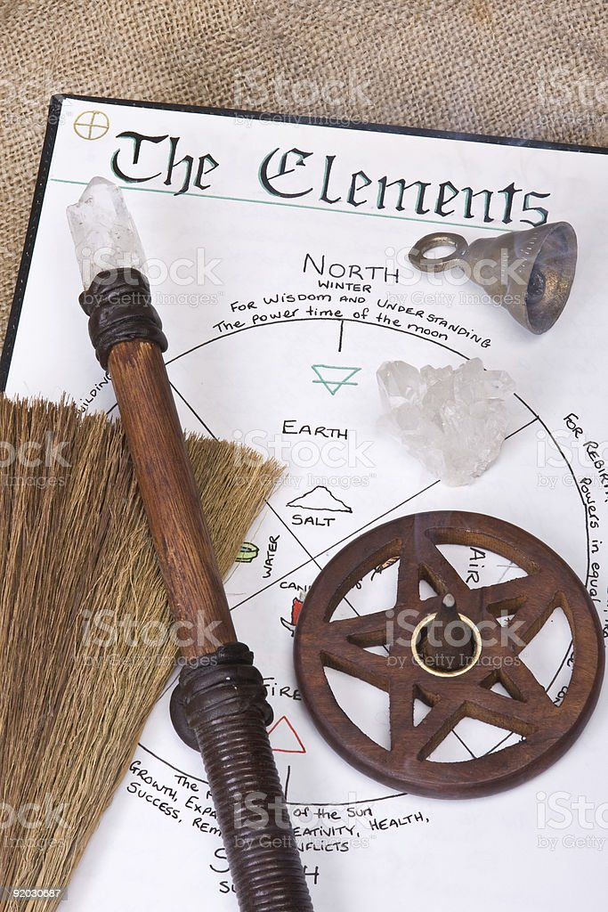 Wiccan Ritual Tools royalty-free stock photo