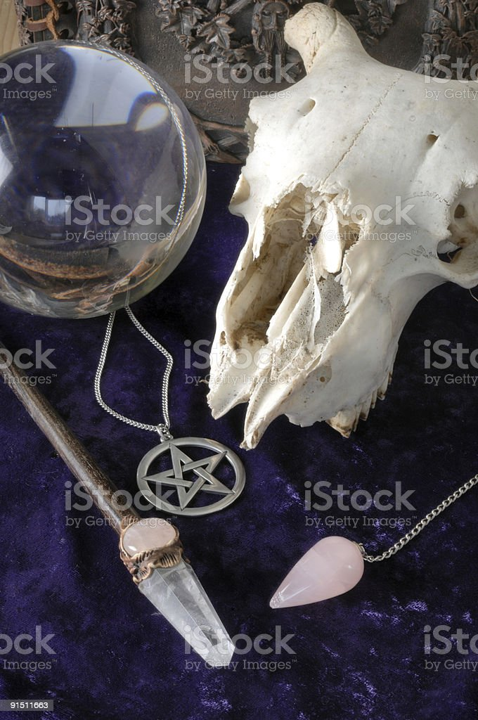 Wiccan Tools royalty-free stock photo