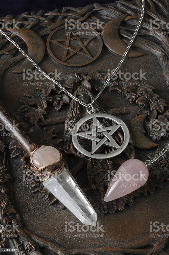 Wiccan Tools stock photo