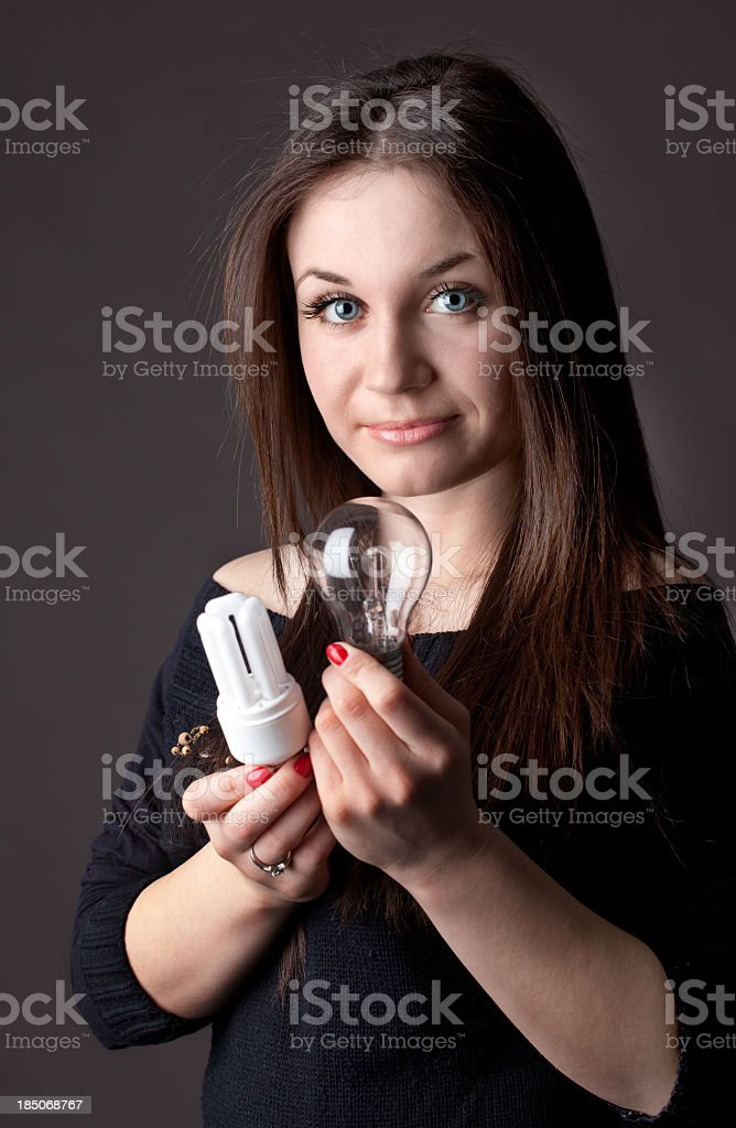 Wich electric bulb to use stock photo
