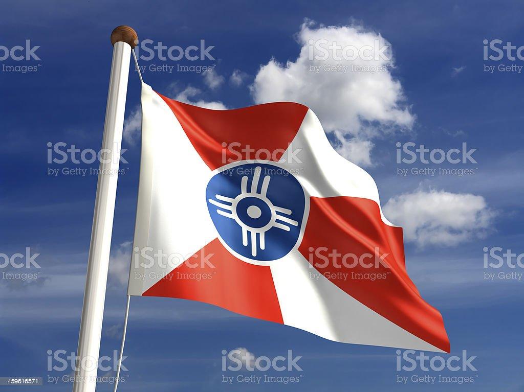 Wichita City Flag stock photo
