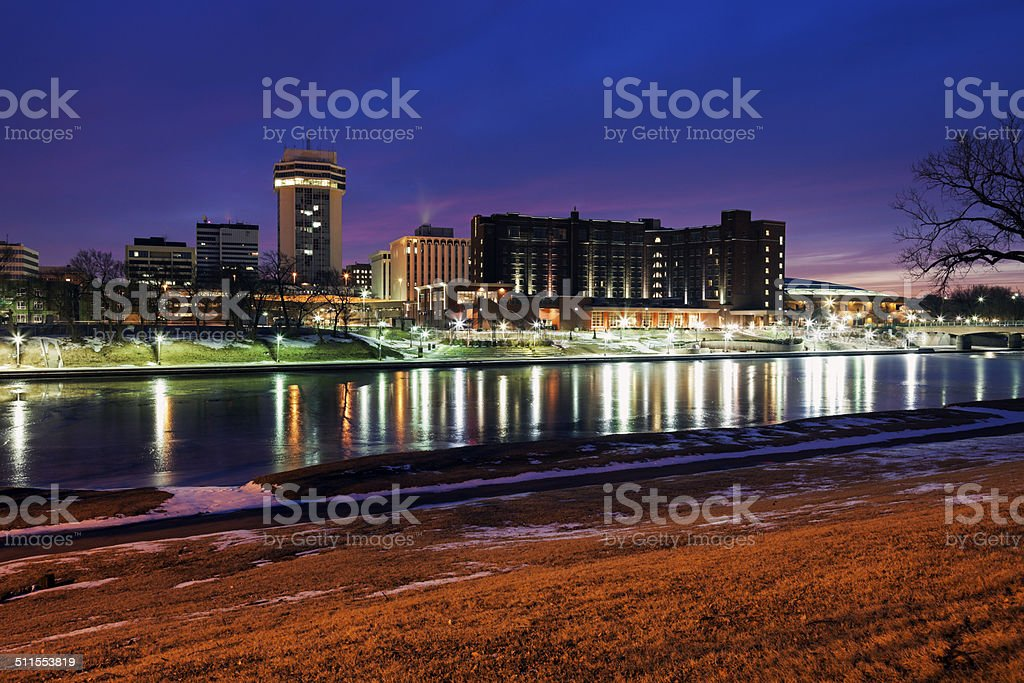 Wichita, Kansas - downtown stock photo