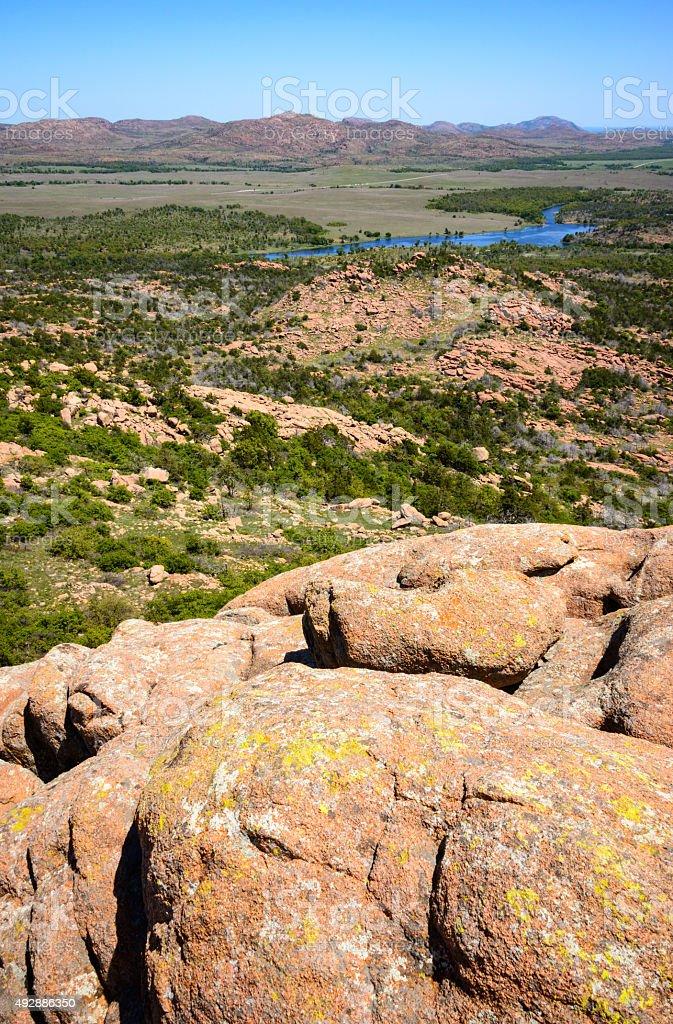 Wichita Mountains National Wildlife Refuge stock photo