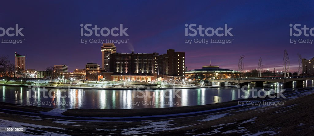 Wichita skyline stock photo
