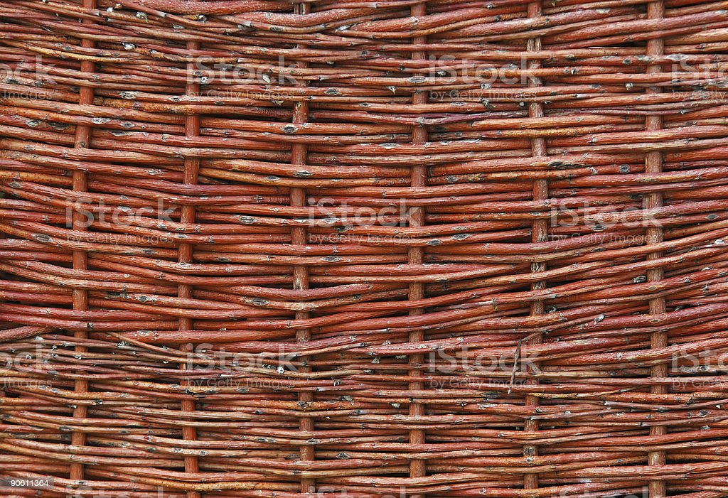 wicker a fence royalty-free stock photo
