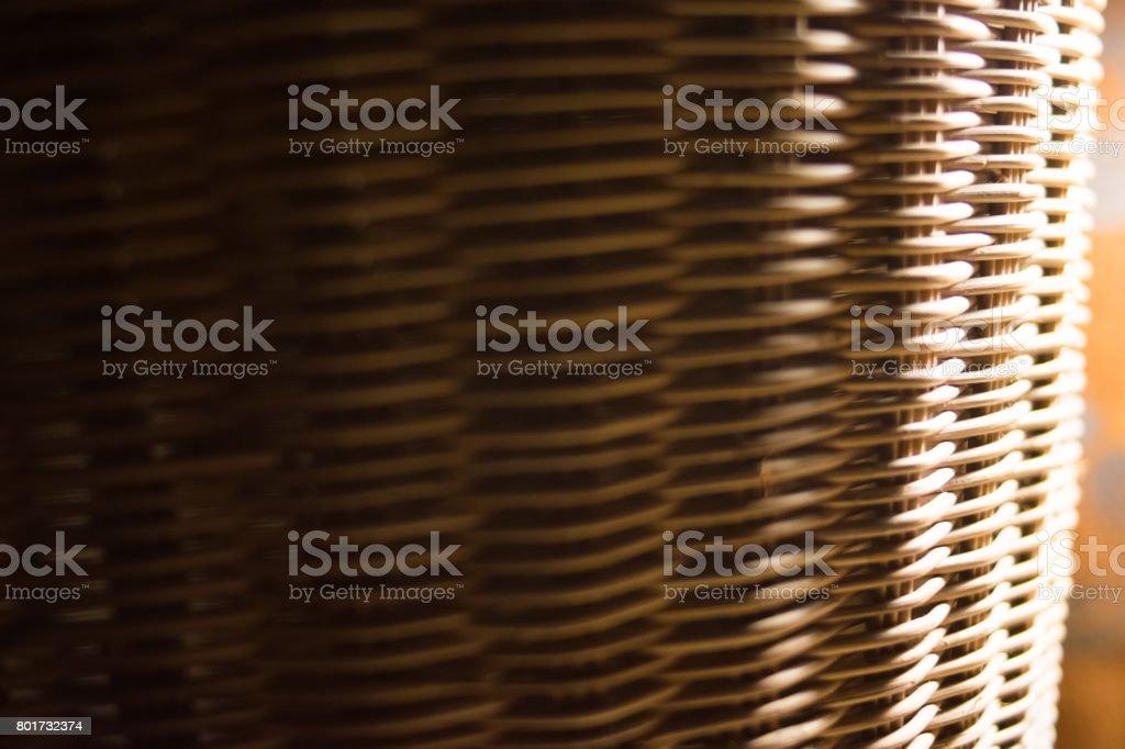Wicker basket background stock photo