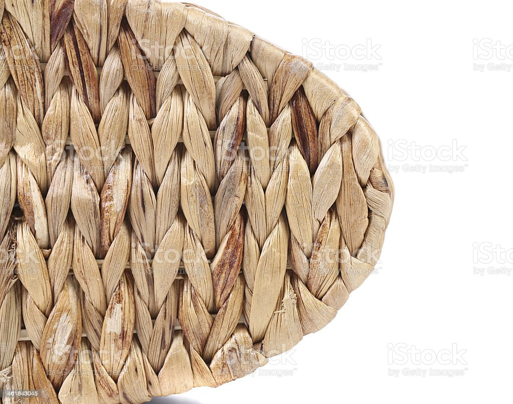 Wicker Basket texture. Close up. stock photo