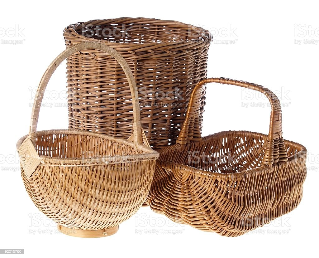 Wicker Baskets royalty-free stock photo