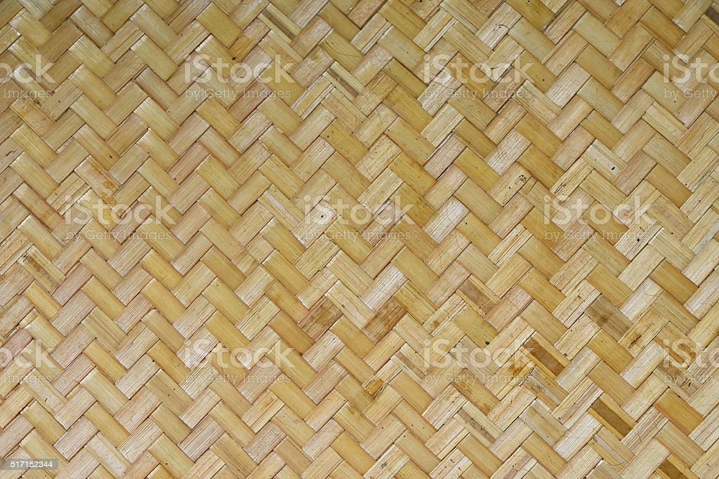 Wicker braided bamboo wall texture stock photo